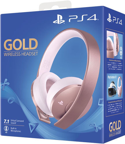 PS4 Headset org. Gold Edition Rose GOLD Sony 7.1./ VR optimiert