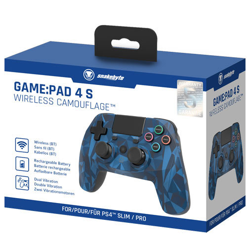 Playstation 4 Controller Game:Pad 4S wirel. camo Snakebyte Bluetooth camo blue
