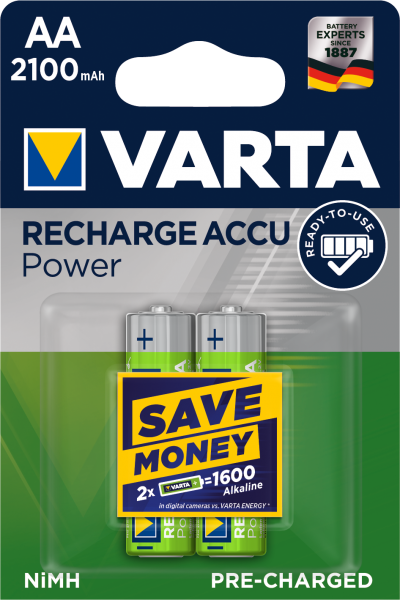 VARTA Rechargeable ACCU im 2er Blister